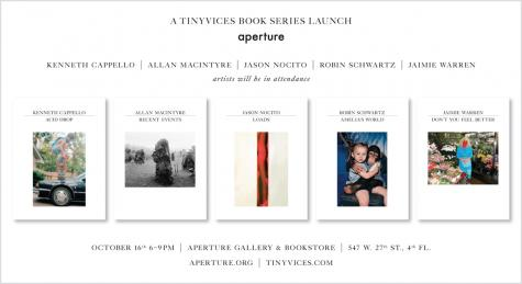 Tinyvices book series launch at aperture