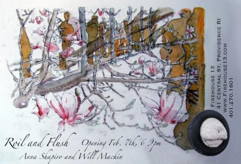 Roil and Flush: Exhibition of work by Will Machin and Anna Shapiro - FH13 Feb 4-28